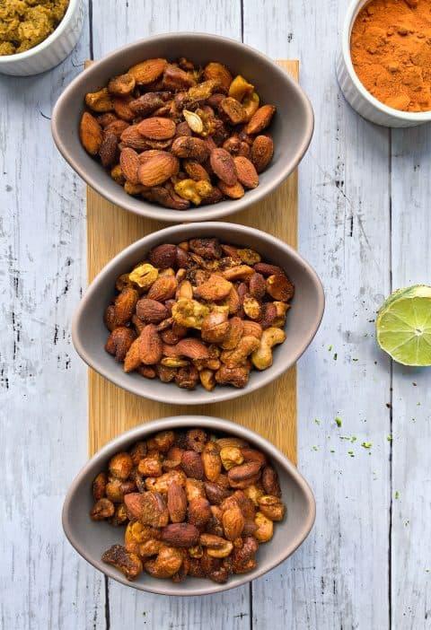 Mix de frutos secos con especias y limón